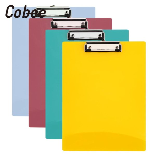 Paper Clip Board PP File Folder Stationery A4 Writing Pad Office Clipboard A4 4 Colors Random