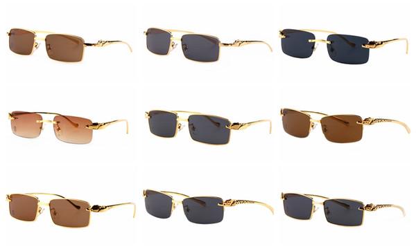 Alta Qualidade Óculos Polarizados Masculino completa moldura de metal ouro marrom lente pernas Ao Ar Livre Óculos Acessórios Óculos De Sol óculos Homens atacado