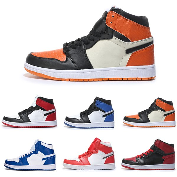 OG 1 Top 3 Men Basketball Shoes Wheat Gold Bred Toe Chicago Banned Royal Blue Fragment UNC Shattered City Of Flight Sneakers designer Shoes