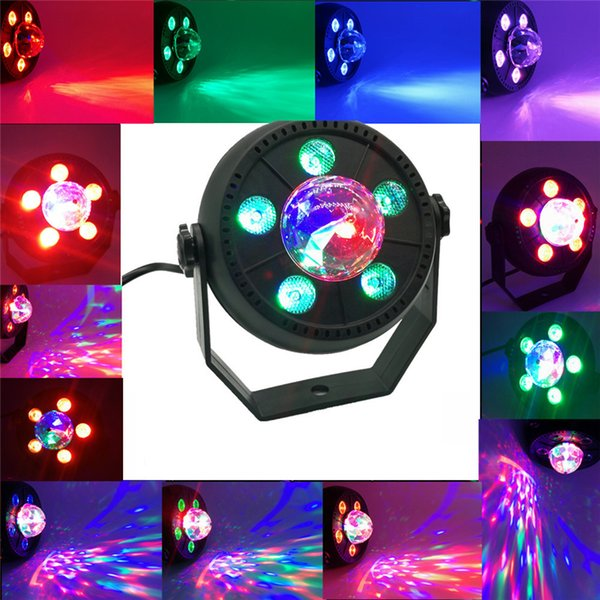 11W LED Stage Light RGB Music Sound Activated Automatic Rotating Magic Ball Party disco light for DJ KTV Bar