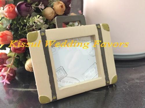 (20Pcs/Lot) Wedding and Party Favors of Let the Journey Begin Vintage Suitcase Photo Frame Place card holder wedding souvenirs