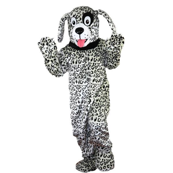 Acheter 2018 Haute Qualité Noir Et Blanc Dalmatien Chien Mascotte Costumes Pour Adultes Cirque Noël Halloween Tenue Fantaisie Costume Costume