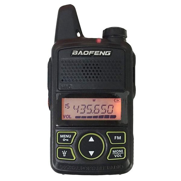 BAOFENG T1 MINI Radio bidirectionnelle BF-T1 Talkie Walkie UHF 400-470mhz 20CH Radio portable FM FM CB Radio Transceiver