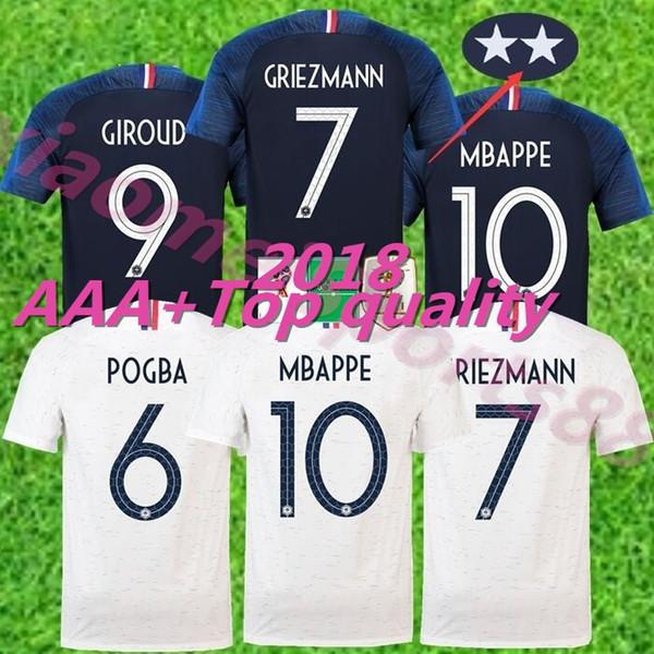 2018 world cup champions 2 stars French GRIEZMANN POGBA MBAPPE Soccer  jerseys man woman KANTE DEMBELE c46455b1c