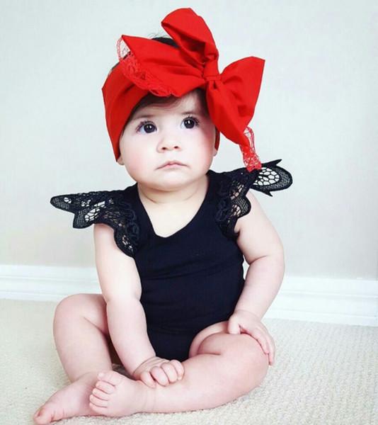 Смешать 5 цветов новорожденных девочек конфеты кружева летающие рукава комбинезоны младенческой новорожденных Onesies малыша One Piece боди дети бутик одежда