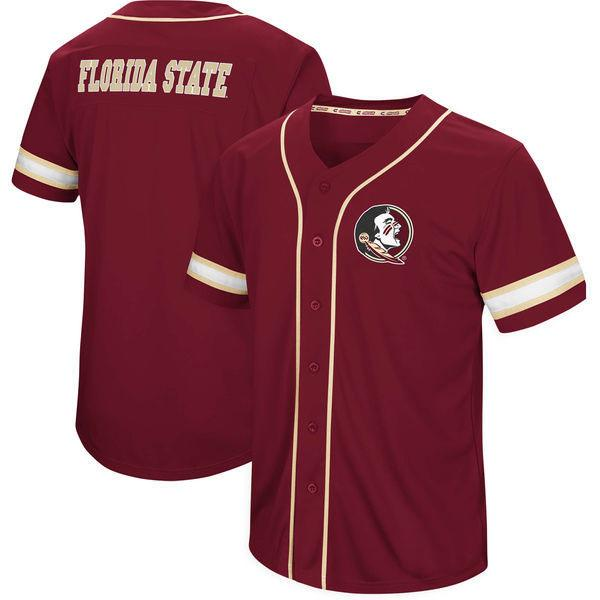 Men Florida State Seminoles Colosseum Play Ball Baseball Jersey Stitch Sewn All Stitched High Quality Free Shipping Jerseys