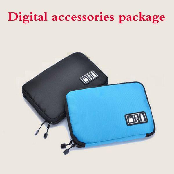Datenleitung Elektronisches Zubehör Tasche für SD Hard Power Drive Kopfhörer Kabel USB Flash Drives Reisetasche Digital Storage Bags