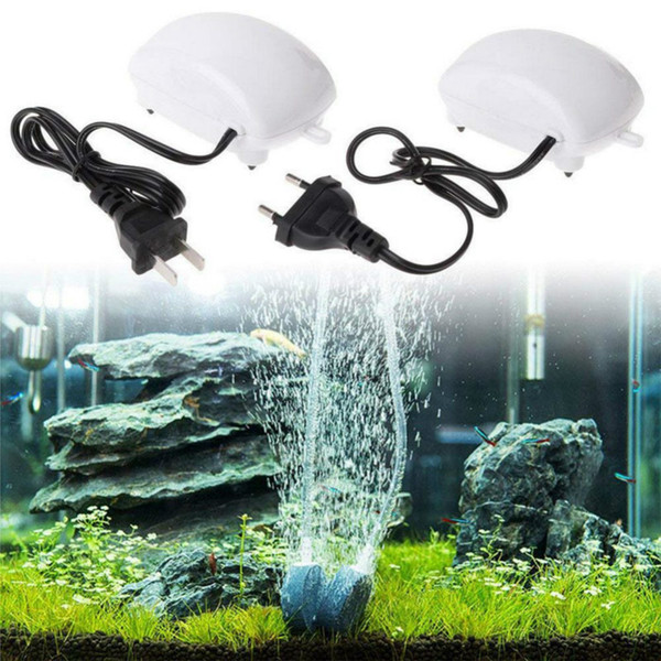 Nouveau 5W 110V 220V Pompes à air pour aquariums Ultra Silencieux Haut-Débit Efficace Énergétique Fish Tank Oxygène Airpump Piscine Aquariums Accessoires