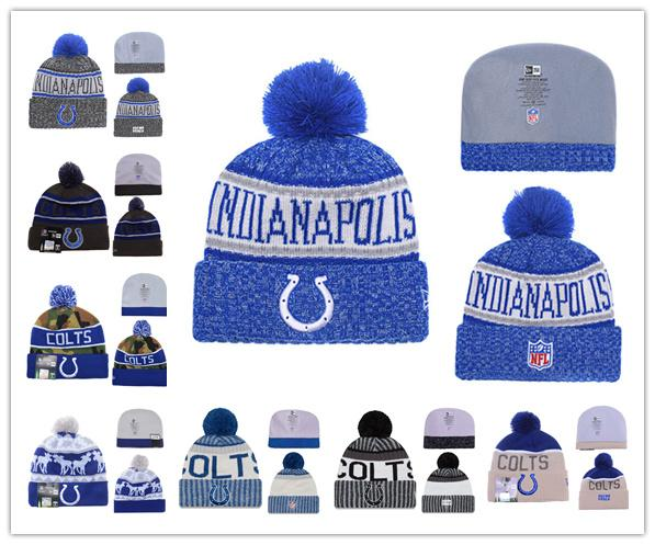 17f8b192 2018 2019 Winter Indianapolis Hat Colts Beanie Hats For Men Women Knitted  Beanie Wool Man Knit Bonnet Beanies Warm Football Cap From Sosofa, $15.23 |  ...