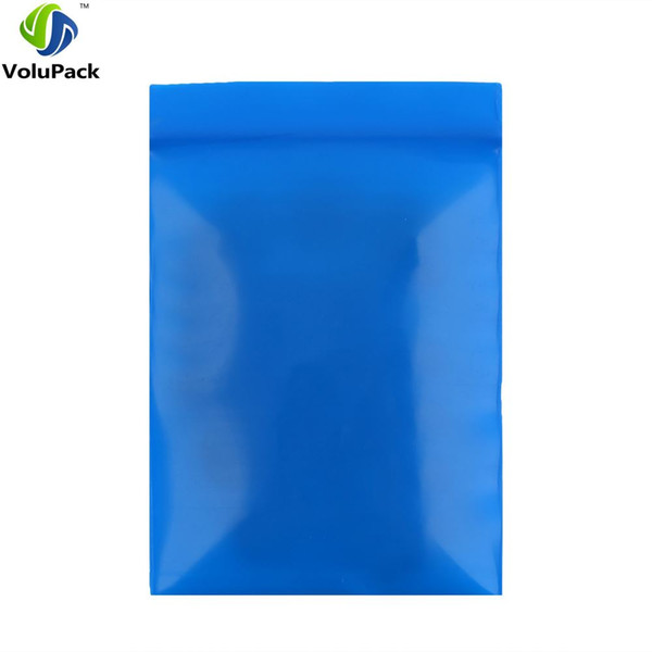 7x10cm(2.75x4in) high quality PE Three Side Seal zip lock Pouch Flat small blue plastic packaging bags 100pcs for gift jewelry