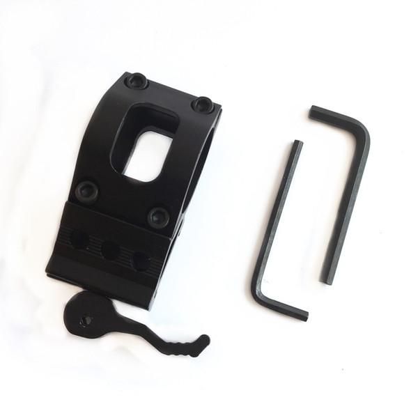 1 PZ M-06 Sgancio Rapido 25mm Anello Tattico Scope Sight Torcia Montature Laser Torcia + 20mm Picatinny Standard / Guida del Tessitore