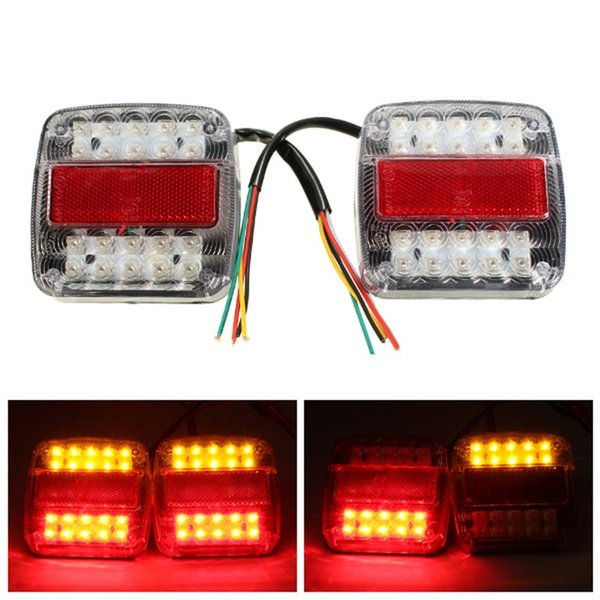 2pcs 26 LED Car Auto Trailer Truck Tail Light Brake Stop Turn Signal Light Lamp