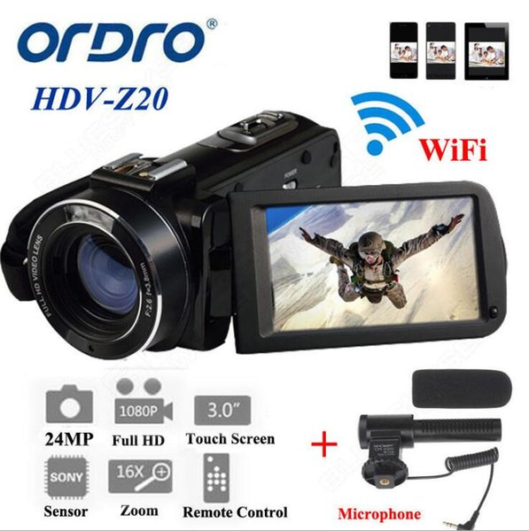 Volle HD Digitalkamera Z20 1080P 30FPS tragbarer digitaler Videokamera-Recorder mit externem Mikrofon drehen LCD-Bildschirm US-Stecker