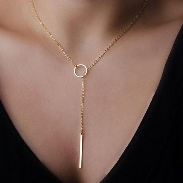 Al por mayor-Fashion Casual personalidad Infinity Cross Lariat colgante de color oro y plata collar de gargantillas mujeres joyería