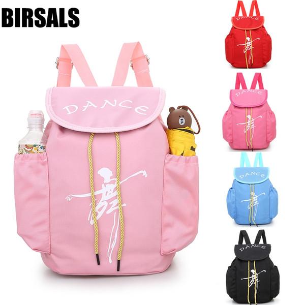 Pink Ballerina Ballet Gift Child Kids Pink ballet bag Backpack Waterproof canvas Dance Bags AS8658