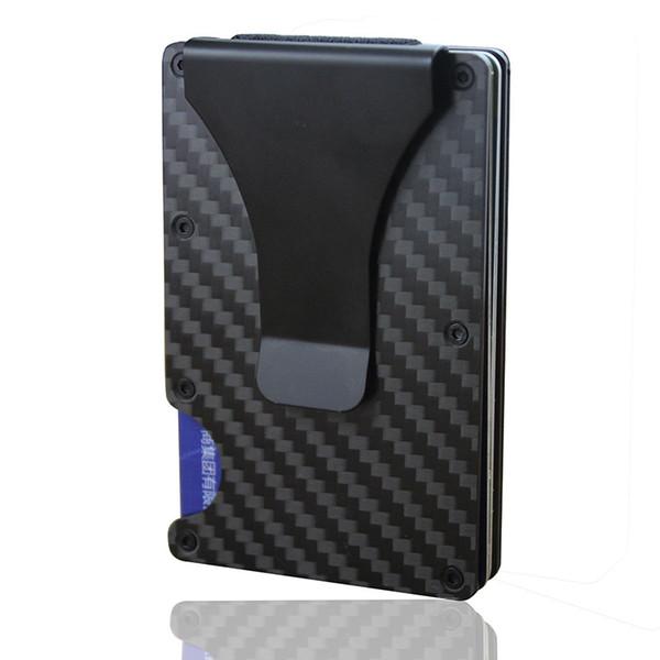 New Fashion Aluminum Metal Money Clip Slim Pocket Purse Luxury Cash Holder Men Women Wallet Rfid block Card Case