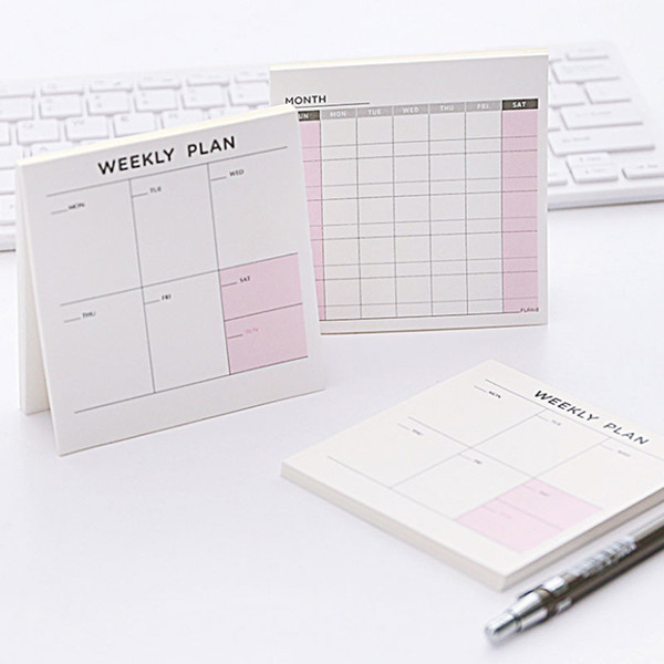 2018 New Agenda Weekly Monthly Work Diary Notepad , Day Planner Journal Record Notebook Stationery School Office Supplies