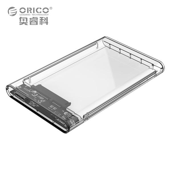 "ORICO 2139U3 2.5"" HDD Enclosure Tool Free Hard Disk Drive Case Transparent 5 Gbps SATA3.0 to USB3.0 Support 2TB UASP Protocol"