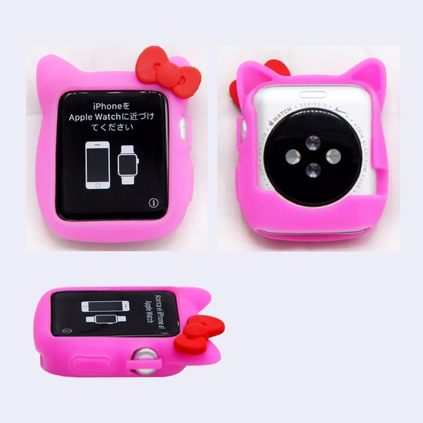 b6c889022 SANYU Lovely Hello kitty Silicone Case iwatch Silicon Series 3 2 1 Case  Cover 38mm/42mm Cover