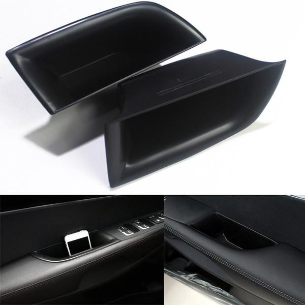 Car Front Row Armrest Side Door Handle Storage Box Black For Kia Sorento 2015-2017 New