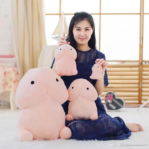 Yaratıcı Sevimli Peluş Oyuncaklar Yastık Seksi Yumuşak Dolması Yastık Komik Peluş Yastık Simülasyon Girlfriend için Güzel Bebekler Hediye