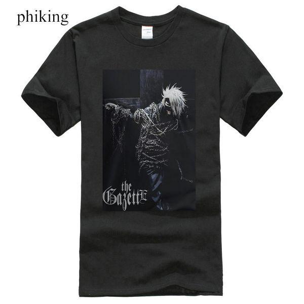 Plain T Shirts Short O-Neck Christmas New The Gazette Dogma Japan Metal Rock Band Men's Black T-Shirt Size S-3Xl Shirt For Men