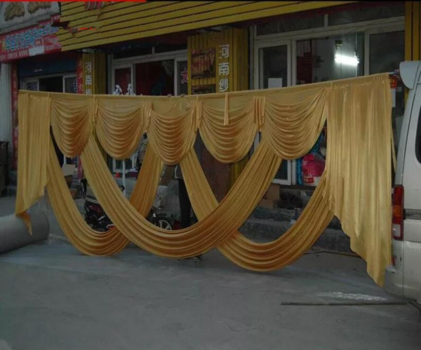6m Wide Designs Wedding Party Birtyday Stylist Swags For Backdrop Party Curtain Celebration Stage Backdrop Drapes