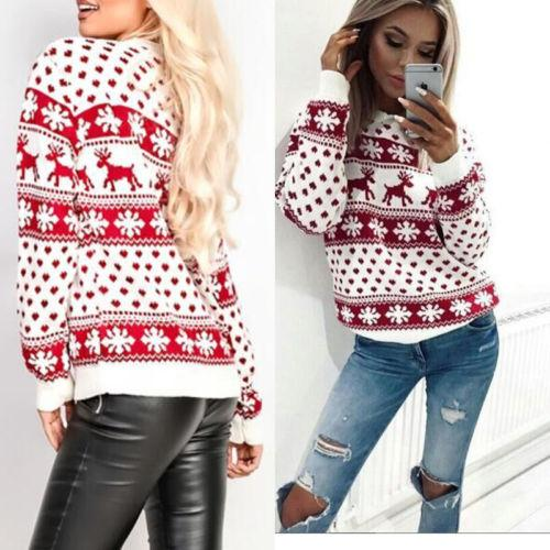 Pullover Womens Ladies Warm Brief Sweaters Clothing Women Lady Jumper Sweater Tops Coat Christmas Winter
