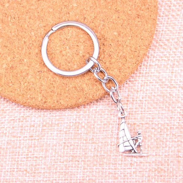 Mode 28mm porte-clés en métal porte-clés porte-clés bijoux