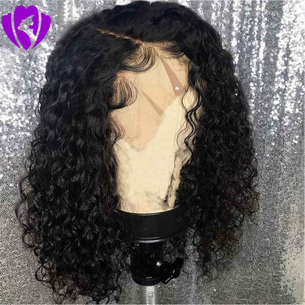 14Inches short Afro Kinky Curly Wig Natural Synthetic Front Lace Wigs for Women Black /brown/burgundy Color Hair Heat Resistant