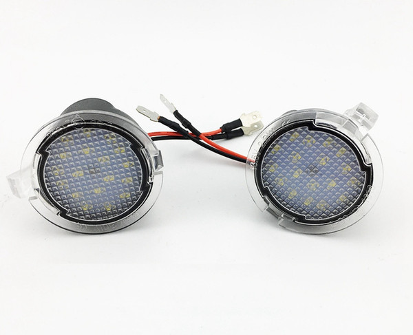 For Ford LED Side Mirror Puddle Light Lamp White 18LED For Explorer Mondeo Edge Taurusp F150 Pick Up Heritage 2pcs/lot