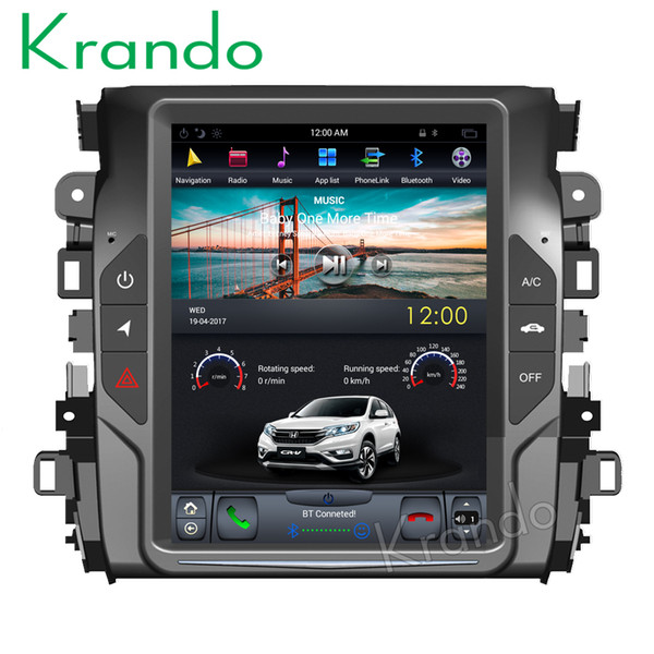 "Krando Android 7.1 10.4"" Tesla Vertical screen car dvd radio multimedia system for Honda Crown Avancier 2017 navigation player"