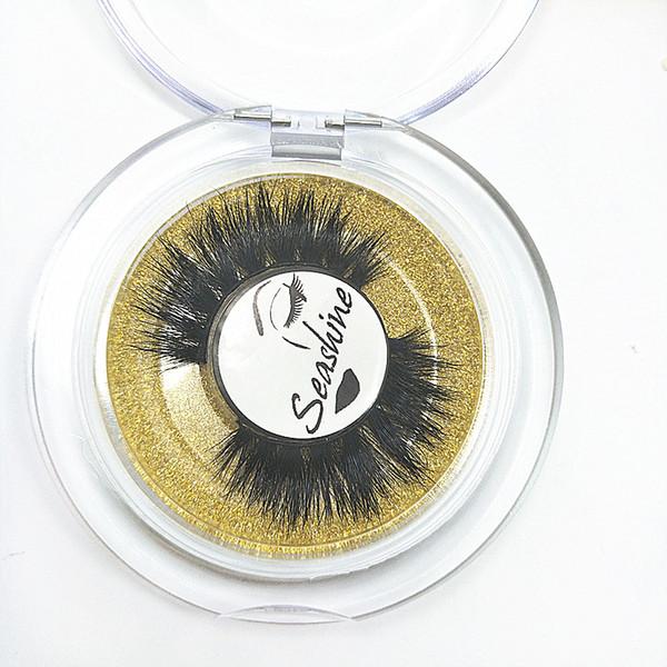 Seashine 10 Par 3D 100% hecho a mano Pestañas de Visón Pestañas Postizas para Maquillaje de Fiesta Tamaño de la Mezcla Extensiones de Pestañas Entrecruzadas Esterilizadas para Casual