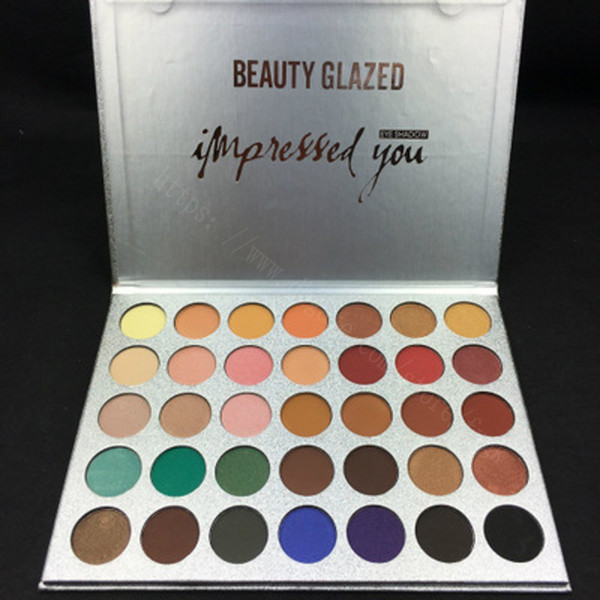 top popular Hot sell New Makeup beauty glazed 35color Glitter Eyeshadow Palette Matte Eye Shadow High Qualityfree shipping 2019