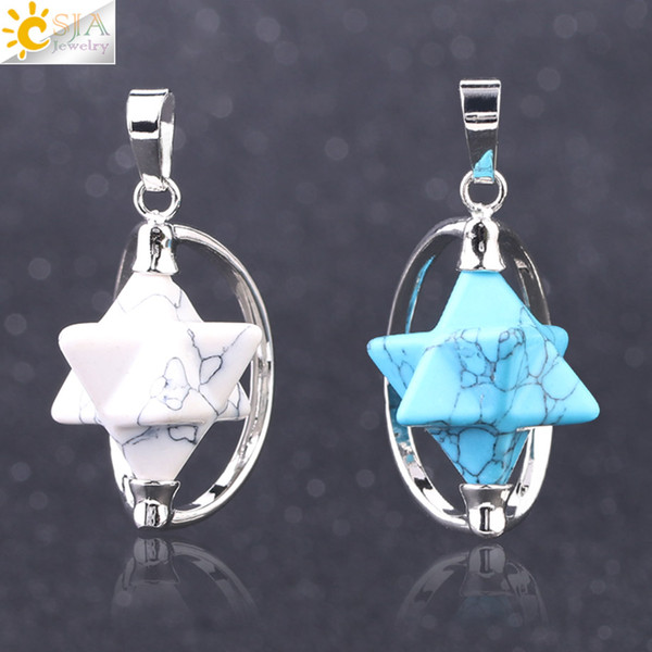 Wholesale CSJA Energy Merkabah Necklace Pendant Natural