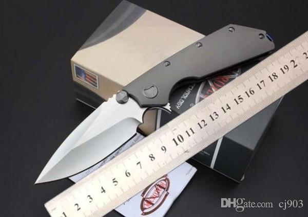 Haute qualité livraison gratuite technique DOC D2 couteau die contact matériel titane alliage poignée couteau, outil de survie de camping en plein air