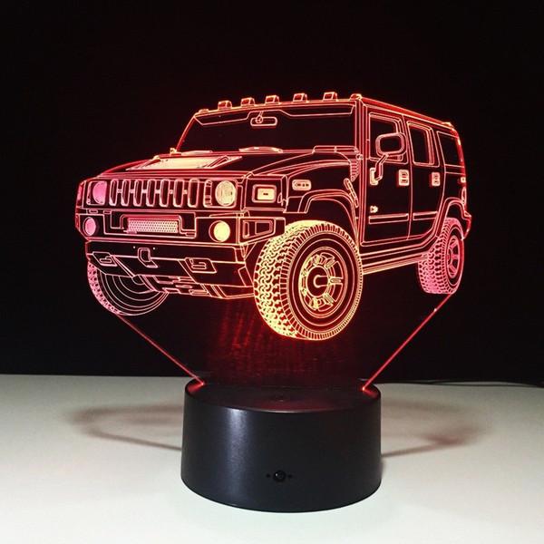 Домашнее украшение Hummer новинка 3D лампа LED Night Light питание от батареи USB ночник детская комната #R54