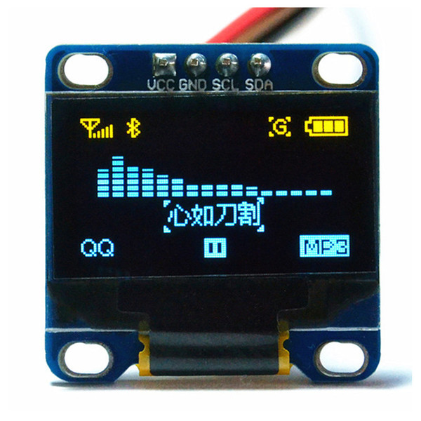 0.96 inç I2C IIC Oled Modülü sarı-mavi 12864 / 3.3 V-5 V Arduino için 51 MSP420 STIM32 SCR (HTDS-DI96N)