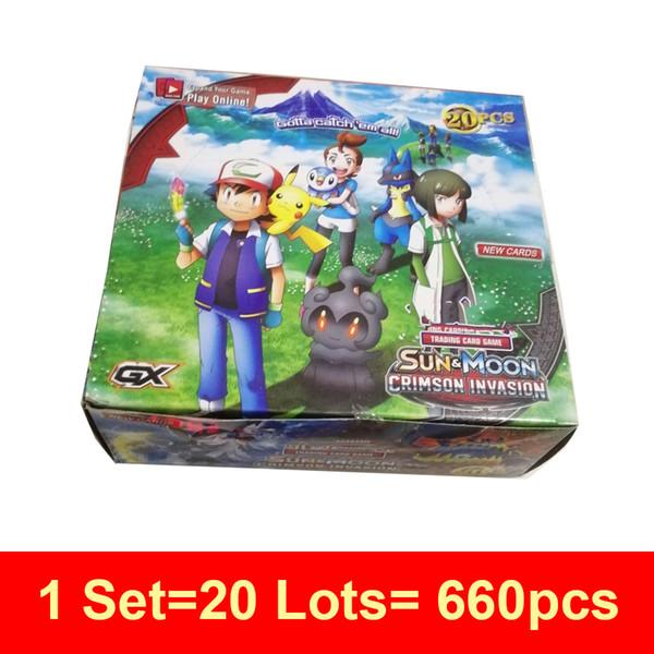 Compre 660 Unids Set Sunmoon Juego De Cartas Anime Trading Jugando