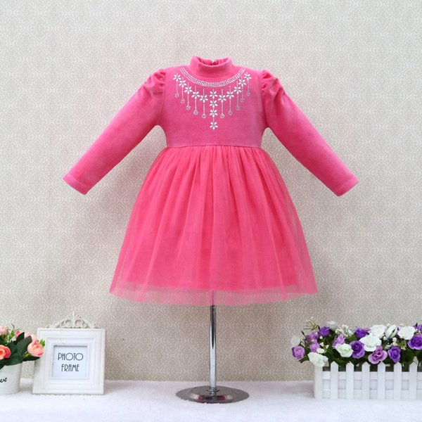 Little Q baby dress children dresses fashion baby garment cute kid costume for party christmas suits outfits velour clothing for children
