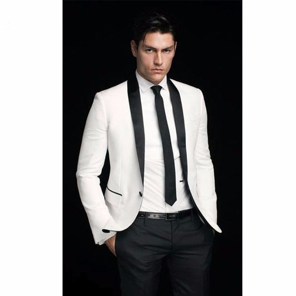Classic Groomsmen Shawl Lapel Groom Tuxedos One Button Men Suits Wedding/Prom Best Man Blazer ( Jacket+Pants+Tie ) A336