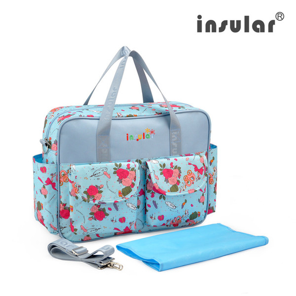Insular Waterproof Baby Diaper Bag Lovely Colorful Maternity Messenger Nappy Bags With changing Pad Bolsa Maternidade For Mummy