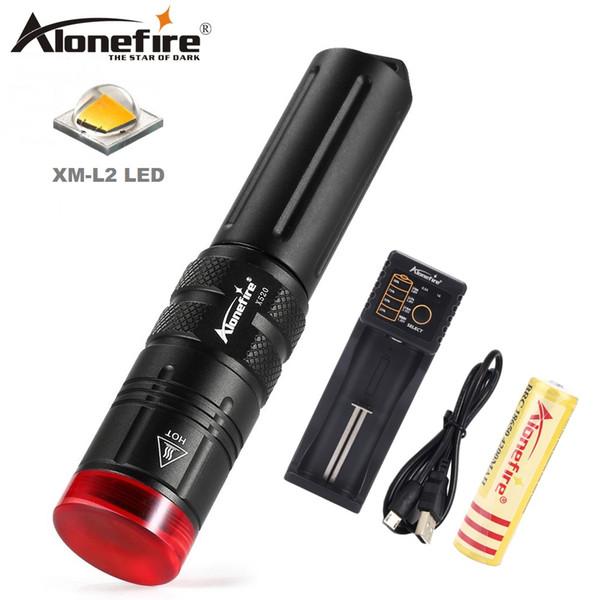 AloneFire X520 Diving Flashlight 18650 Dive Torch Powerful Cree LED XM-L2 Underwater Flashlight Waterproof Diving Lamp lanterna