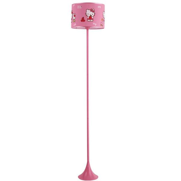 OOVOV Pembe Prenses Odası Kedi Zemin Lambası Kız Odası Karikatür Zemin Lambaları Bay Odası Zemin Işık