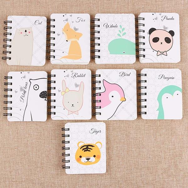 New Cute Kawaii Cartoon Animal Weekly Planner Notebook for Kids Cute Panda Bird Paern Children Creative Gift Korean Stationery