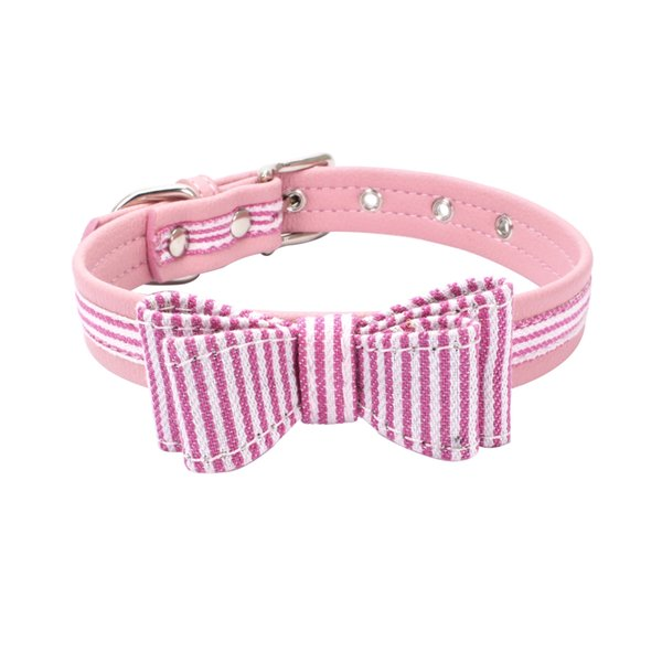2018 Hot Sale Pet Dog Collars Superfiber Bow Tie Collars Adjustable Length Collars 6 Colors Free Shipping
