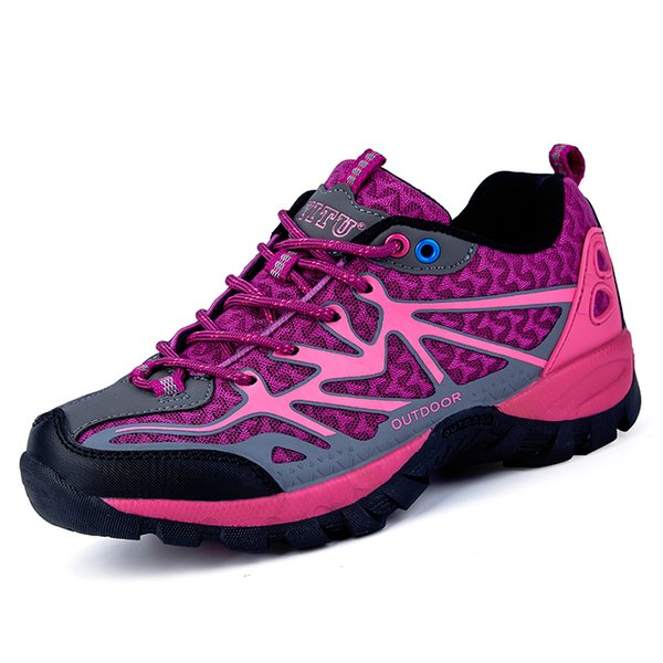 2018 Hiking Shoes Women Sneakers Sport Outdoor Climbing Mountain Rubber Sole Lace Uo Trainers Camping Cheap