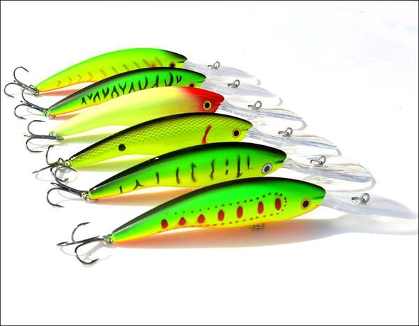 Fishing Minnow Lure Long Tongue Board 14g/13.5cm Artificial Plastic Lure Hard Bait new arrive