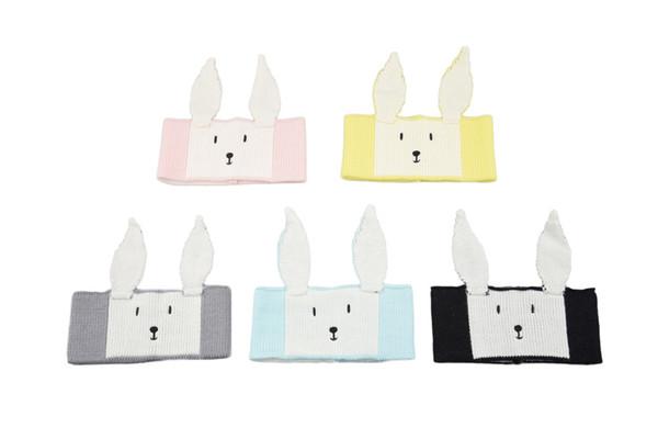 5 colors Children's rabbit ears wool hair band baby headband knitted earmuffs baby warm hair accessories