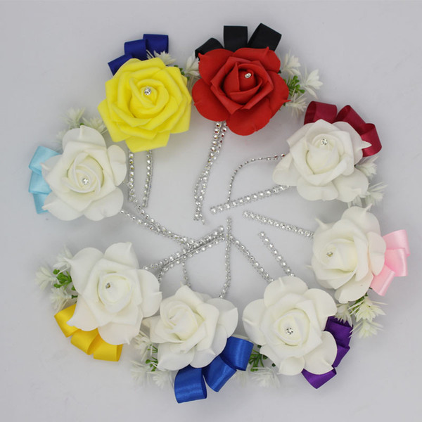 roomsman boutonniere 1 pieces Best Man boutonniere for Groom groomsman Pe rose flower Wedding suit corsage accessories pin brooch decorat...